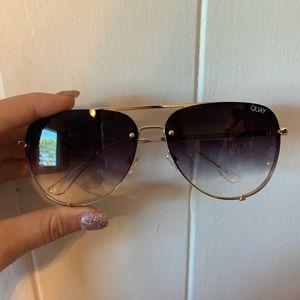 Brand new Quay Desi Perkins rimless black sunnies